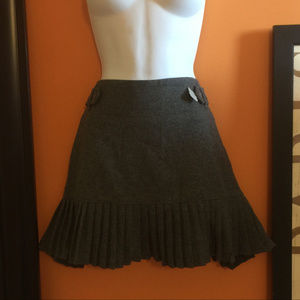 Charcoal Gray GAP wool skirt with pleats New